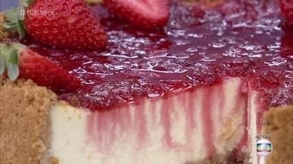 Cheesecake de Morango com Ricota do 'Mais Você'