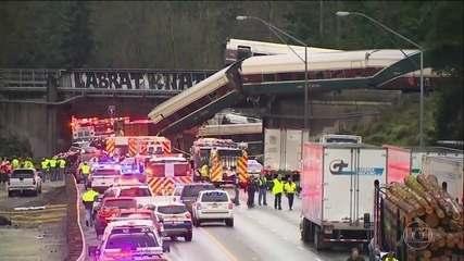 Trem descarrila em Washington (EUA) e deixa seis mortos e 77 feridos