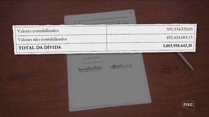 Documento mostra que dívida na saúde em SC chega ao valor de R$ 1 bilhão