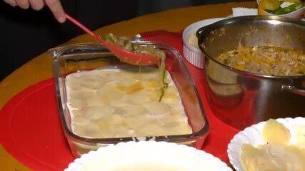 Aprenda a preparar uma lasanha de bacalhau com massa de batata