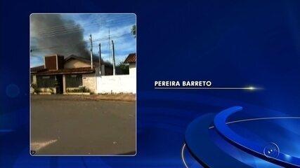 Homem é preso suspeito de atear fogo na casa da ex-companheira em Pereira Barreto