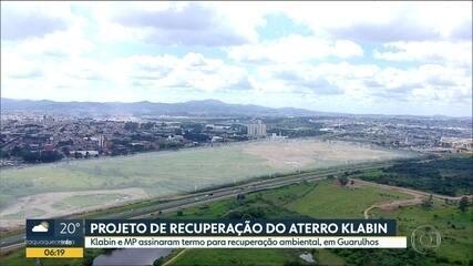 MP e Klabin assinam termo de recuperação de aterro, em Guarulhos