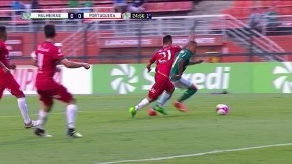 Melhores momentos de Palmeiras 1 (2) x (3) 1 Portuguesa pelas quartas da Copa SP 2018