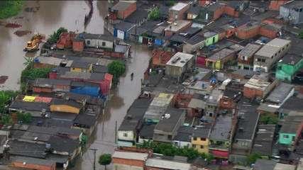 Chuva forte provoca alagamentos e deixa São Paulo em estado de atenção