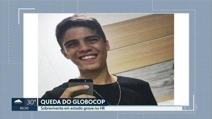 Sobrevivente da queda do Globocop segue em estado grave no Hospital da Restauração