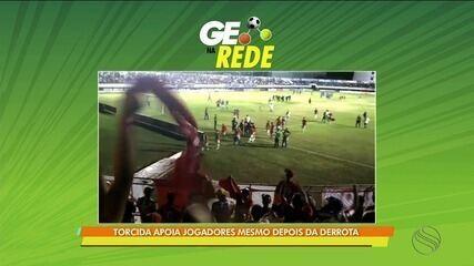 GE na Rede: Torcida apoia Sergipe após derrota em clássico no Mendonção
