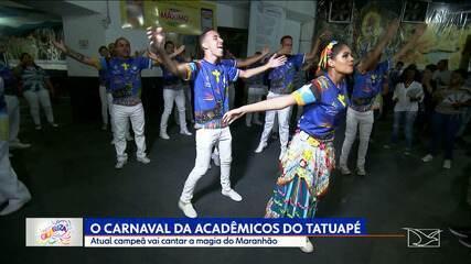 Acadêmicos do Tatuapé se prepara para desfilar com enredo sobre o Maranhão
