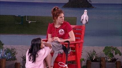 Ana Clara cogita toque do Big Fone e promete: 'Eu tiro a roupa e corro pelada'