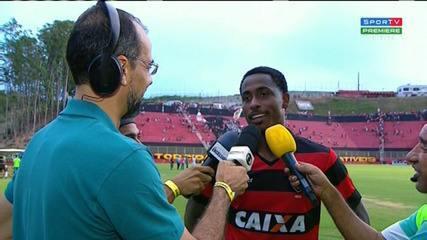 Denílson fala sobre Vitória 3 x 0 Bahia de Feira
