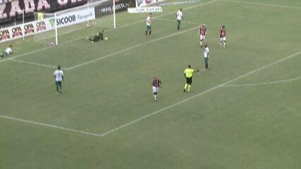 Alex Ruan lança Madson, que cruza para Murilo Rangel dar a vitória para o JEC