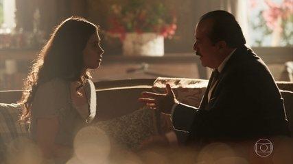 Reveja cena desta terça, 20/2: José Augusto tenta convencer Tereza a ter o filho na Quinta