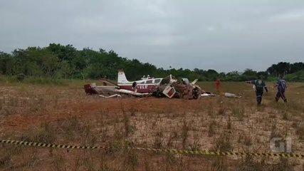 Avião de pequeno porte cai em Manaus