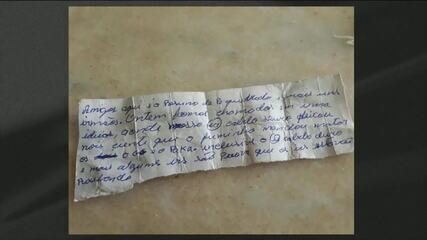 Bilhete indica que chefe de facção em SP teria mandado executar integrantes no Ceará