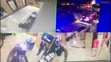 Vídeo mostra reação de hóspedes com tiros em frente a hotel de SP