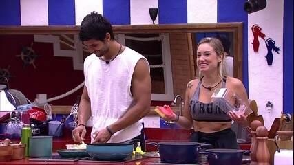 Jéssica conta que pediu no Raio-X para que Lucas e Diego fiquem na casa e Caruso saia