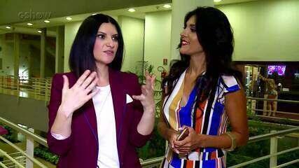 Laura Pausini participa do 'Ding Dong' e comenta parceria com Simone e Simaria