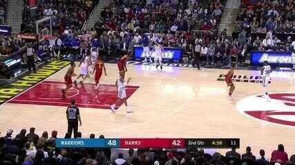 Melhores momentos: Golden State Warriors 114 x 109 Atlanta Hawks pela NBA