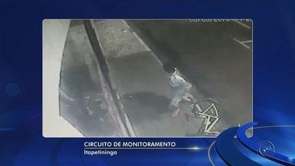 Câmera registra momento em que ladrão tenta furtar loja no Centro de Itapetininga