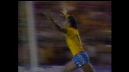 Os gols do BRasil na vitória sobre a URSS - Copa de 1982