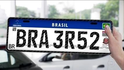 Placas de veículos vão mudar para seguir o mesmo padrão do Mercosul