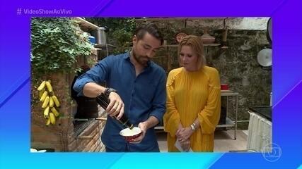 Ricardo Pereira mostra que também manda bem na cozinha
