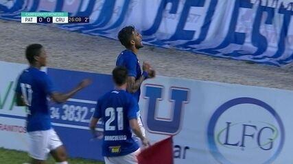 Um dos gols de Rafael Marques pelo Cruzeiro foi marcado contra o Patrocinense