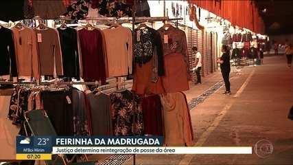 """TJ ordena novamente a reintegração de posse na """"Feirinha da Madrugada"""", em SP"""