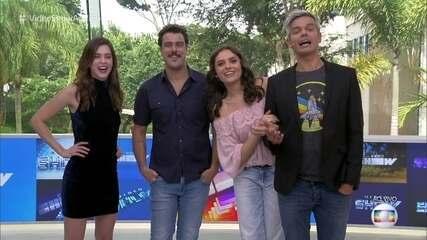 Monica Iozzi e Joaquim Lopes relembram momentos no 'Vídeo show'