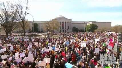 Marcha por mais controle na venda de armas reúne multidão nos EUA
