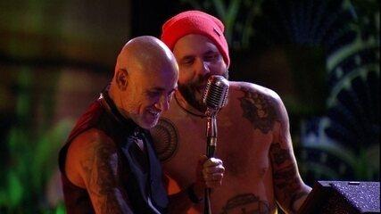 Caruso e Ayrton fazem dueto com hit de Guns N' Roses