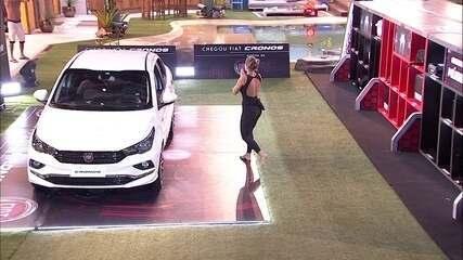 Jéssica vai para o Fiat Cronos Branco Alaska na etapa final da Prova do Líder
