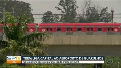 É inaugurada a linha que liga SP ao Aeroporto de Guarulhos