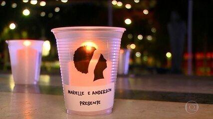 Luzes para Marielle Franco e Anderson Gomes