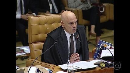 Alexandre de Morais vota por negar o habeas corpus ao ex-presidente Lula