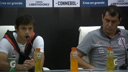 Fábio Carille e Romero falam sobre vitória do Corinthians sobre o Independiente