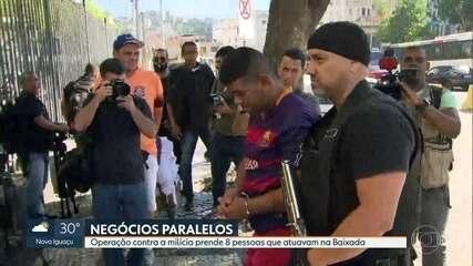 Operação contra milícia prende oito pessoas que atuavam na Baixada Fluminense