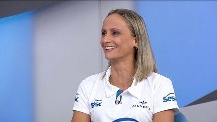 Fabi fala sobre encerrar a carreira de jogadora e se tornar comentarista do Grupo Globo
