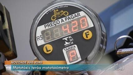 Mototáxis devem circular com medidores para calcular valor da corrida em Goiânia