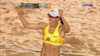 Carol Horta/Taiana vence Tainá/Victoria e conquista o SuperPraia