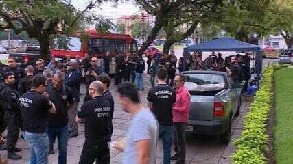 Agentes de segurança fazem manifestações de homenagem ao policial morto em Pareci Novo