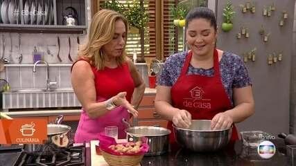 Cissa Guimarães aprende a fazer o tradicional biscoito Goiabinha