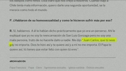 """""""Deus te fez assim"""", diz Papa Francisco a um homem gay"""
