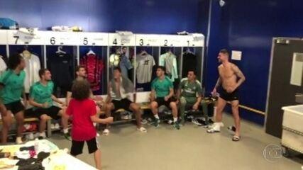 Filho de Marcelo sobre vídeo de tabela com jogadores do Real: 'Treino muito'