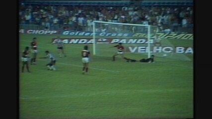 Flamengo 1 x 1 Atlético-MG, jogo de ida das oitavas do Brasileiro de 1986