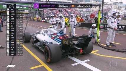 Sergey Sirotkin cumpre punição durante GP de Mônaco