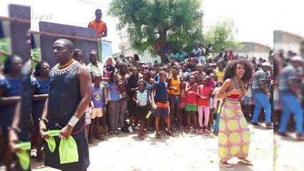 Lázaro Ramos mostra bastidores da gravação de 'Mister Brau' na Angola