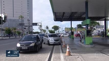 Motoristas continuam a enfrentar longas filas para abastecer nos postos do Grande Recife