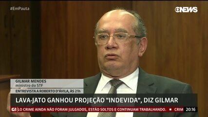 """Operação Lava-Jato ganhou projeção """"indevida"""". diz o ministro Gilmar Mendes"""