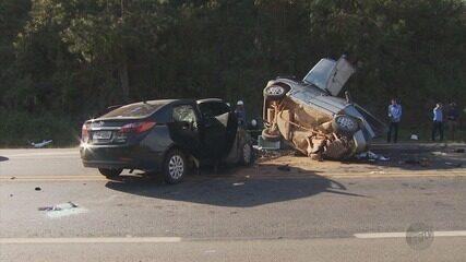 Segunda vítima de acidente na BR-146 morre em hospital em Poços de Caldas (MG)