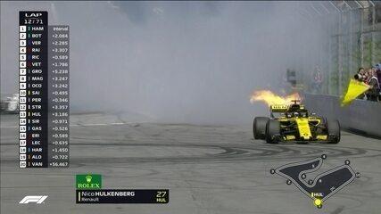 Hulkenberg abandona o GP da Áustria após quebra de motor
